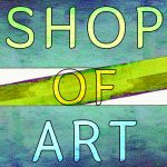 shop of art logo abstract 20 nov blue